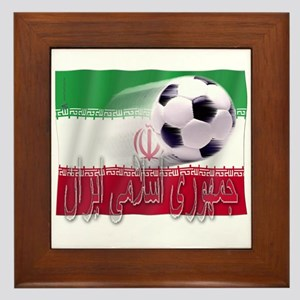 Soccer Flag Iran (Arabic) Framed Tile