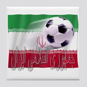 Soccer Flag Iran (Arabic) Tile Coaster