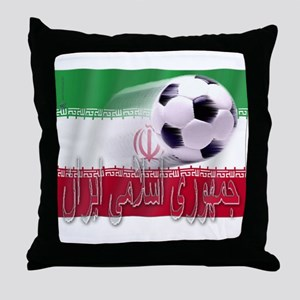 Soccer Flag Iran (Arabic) Throw Pillow