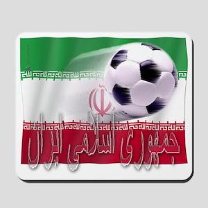 Soccer Flag Iran (Arabic) Mousepad