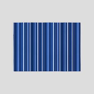 Blue Stripes 5'x7'area Rug