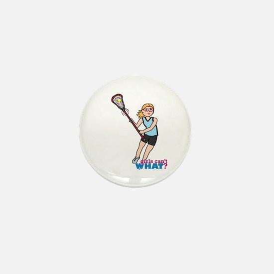Girl's Lacrosse - Light/Blonde Mini Button