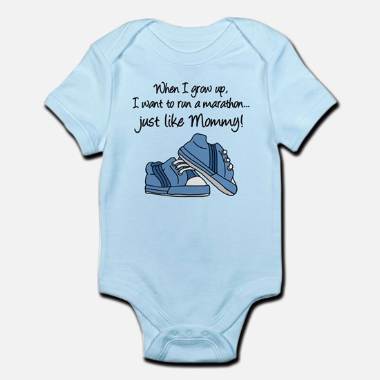 Run Marathon Just Like Mommy Body Suit