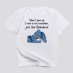 Run Marathon Just Like Grandma Infant T-Shirt