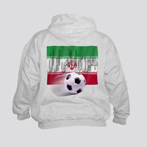 Soccer Flag Iran (Arabic) (B) Kids Sweatshirt