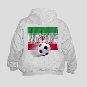 Soccer Flag Iran (Arabic) (B) Kids Hoodie