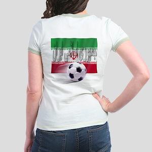 Soccer Flag Iran (Arabic) (B) Jr. Ringer T-Shirt
