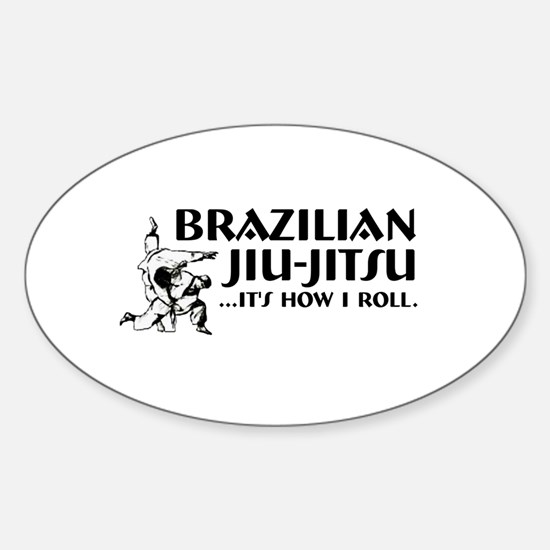 Jiu-Jitsu Oval Decal