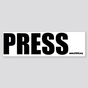 Press Bumper Sticker