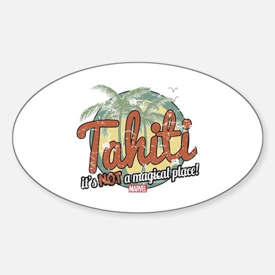 Not a Magical Place Sticker (Oval)