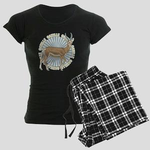 Gazelle Animal Classic Women's Dark Pajamas