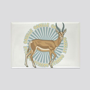 Gazelle Animal Classic Rectangle Magnet
