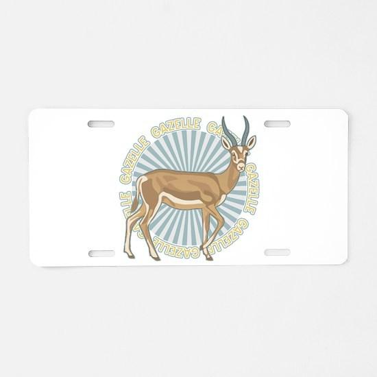 Gazelle Animal Classic Aluminum License Plate