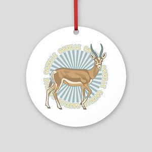 Gazelle Animal Classic Ornament (Round)