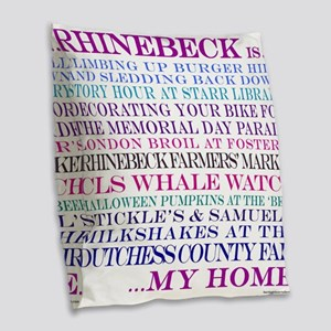 Rhinebeck is my home. Burlap Throw Pillow