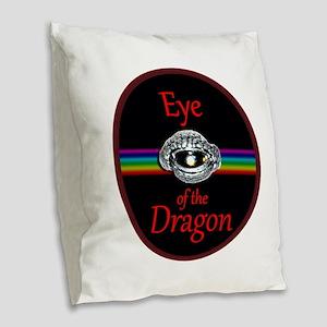 Eye Of The Dragon Fantasy Art Burlap Throw Pillow
