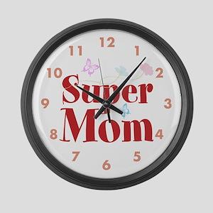 Super Mom Large Wall Clock