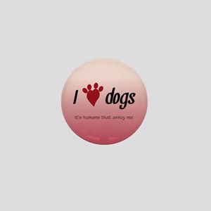 I Heart Dogs Mini Button