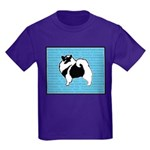 Keeshond Graphics Kids Dark T-Shirt
