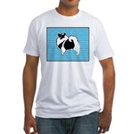 Keeshond Graphics Fitted T-Shirt