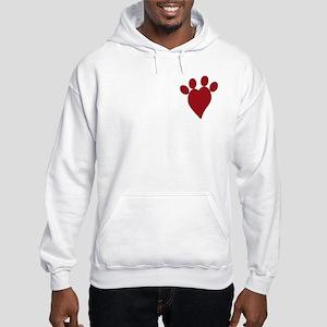 I Heart Dogs Hoodie Hooded Sweatshirt