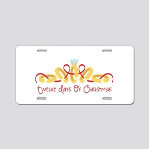Twelve Days Of Christmas Aluminum License Plate