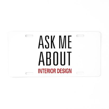 Interior Design Aluminum License Plate