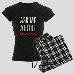 Ask Me About Insurance Women's Dark Pajamas