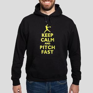 Personalized Keep Calm Baseball Hoodie (dark)