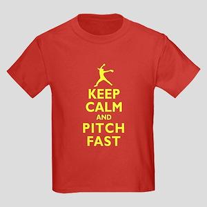 Personalized Keep Calm Baseball Kids Dark T-Shirt