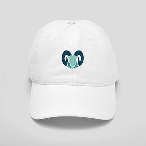 Cool Aqua Ram Design Cap