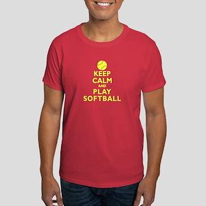 Personalized Keep Calm Baseball Dark T-Shirt