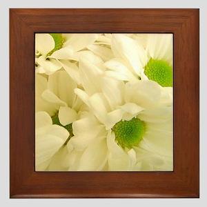 Gardenias Framed Tile