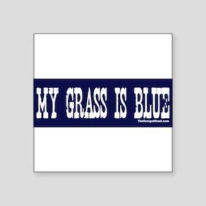 my grass blue bumper 3 Sticker