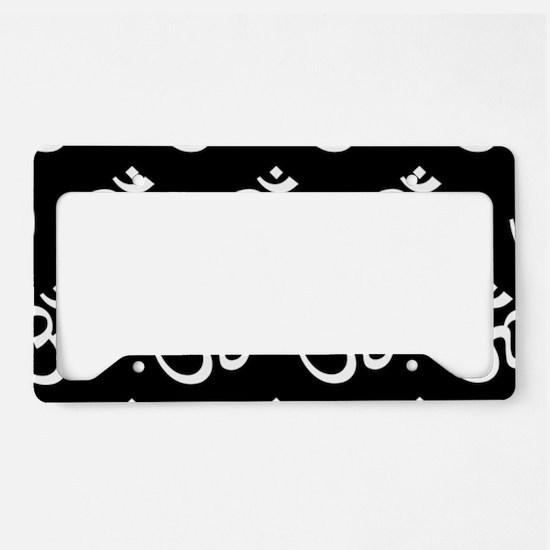 Om, Ohm, Yoga, BLACK License Plate Holder
