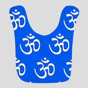 Om, Ohm, Yoga, BLUE Bib