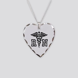 Rn Nurse Caduceus | Shape Necklace Heart Charm
