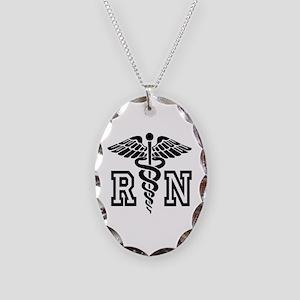 Rn Nurse Caduceus Nursing Necklace Oval Charm