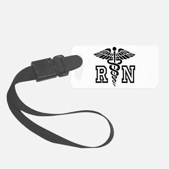 RN Nurse Caduceus Luggage Tag