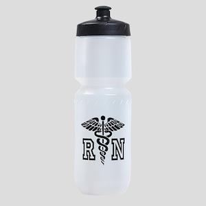 RN Nurse Caduceus Sports Bottle
