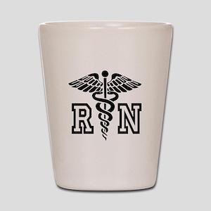 RN Nurse Caduceus Shot Glass