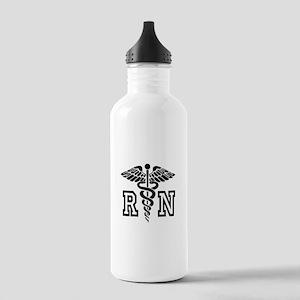 RN Nurse Caduceus Water Bottle