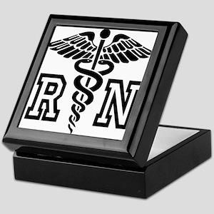 RN Nurse Caduceus Keepsake Box