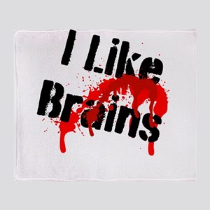 I Like Brains Throw Blanket