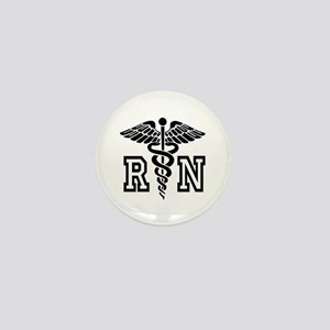 RN Nurse Caduceus Mini Button