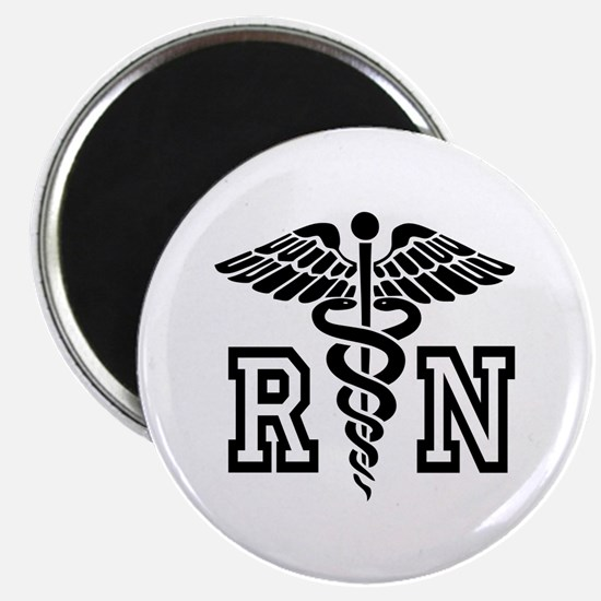 RN Nurse Caduceus Magnets