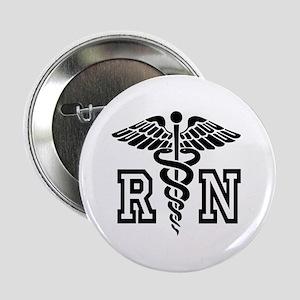 "Rn Registered Nurse Caduceus 2.25"" Button"