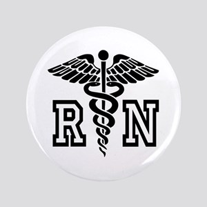 "Registered Rn Nurse Caduceus 3.5"" Button"