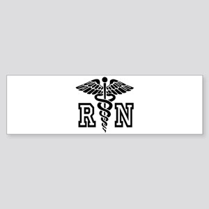 RN Nurse Caduceus Bumper Sticker