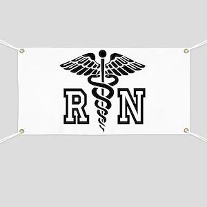 RN Nurse Caduceus Banner